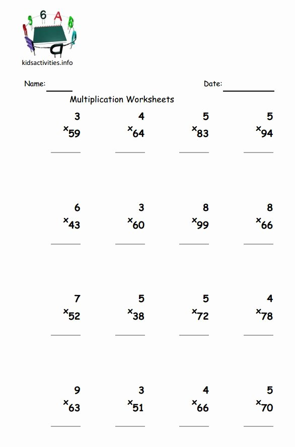 2 Digit by 2 Digit Multiplication Worksheets Best Of Multiplication Math Worksheet 3rd Grade