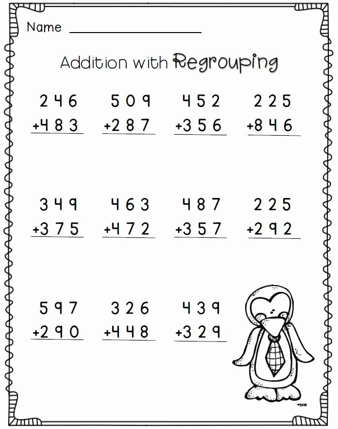 2nd Grade Multiplication Worksheets Free Fresh Addition with Regrouping 2nd Grade Math Worksheets Free