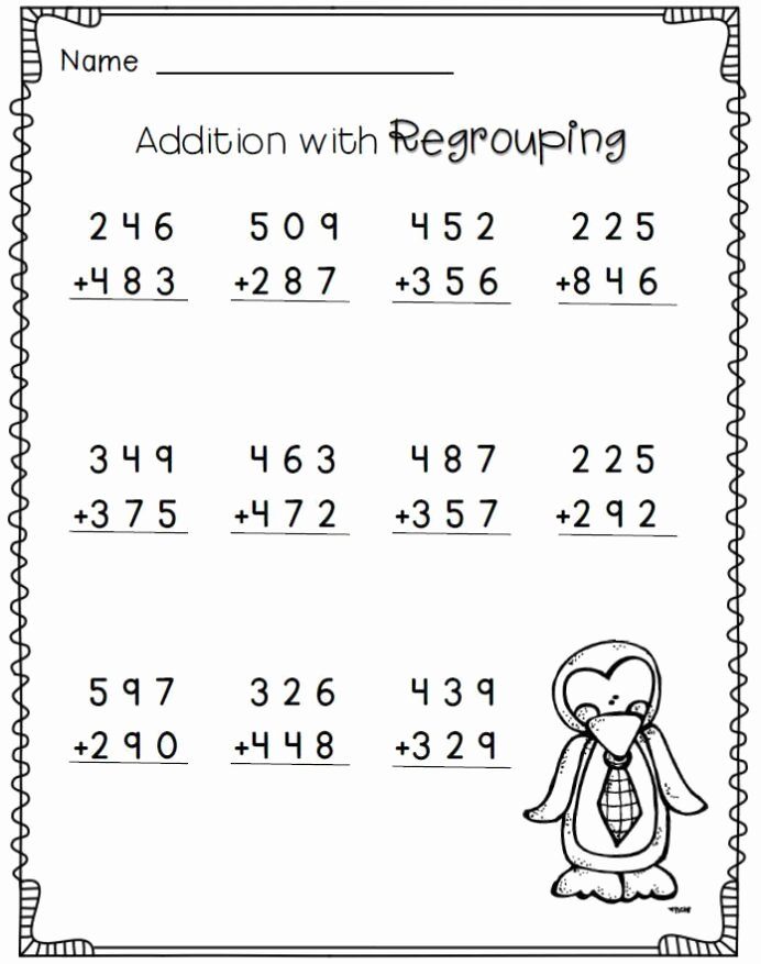 2nd Grade Multiplication Worksheets Fresh Penguin Math Freebie 2nd Grade Worksheets 3rd Second Kumon