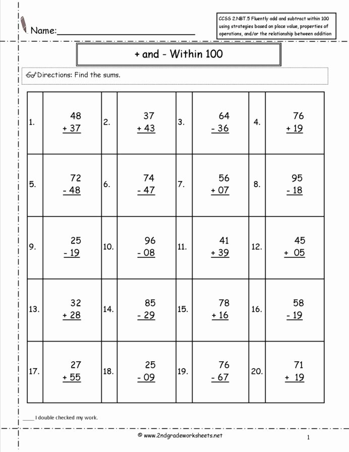 2nd Grade Multiplication Worksheets Lovely 2nd Grade Math Mon Core State Standards Worksheets