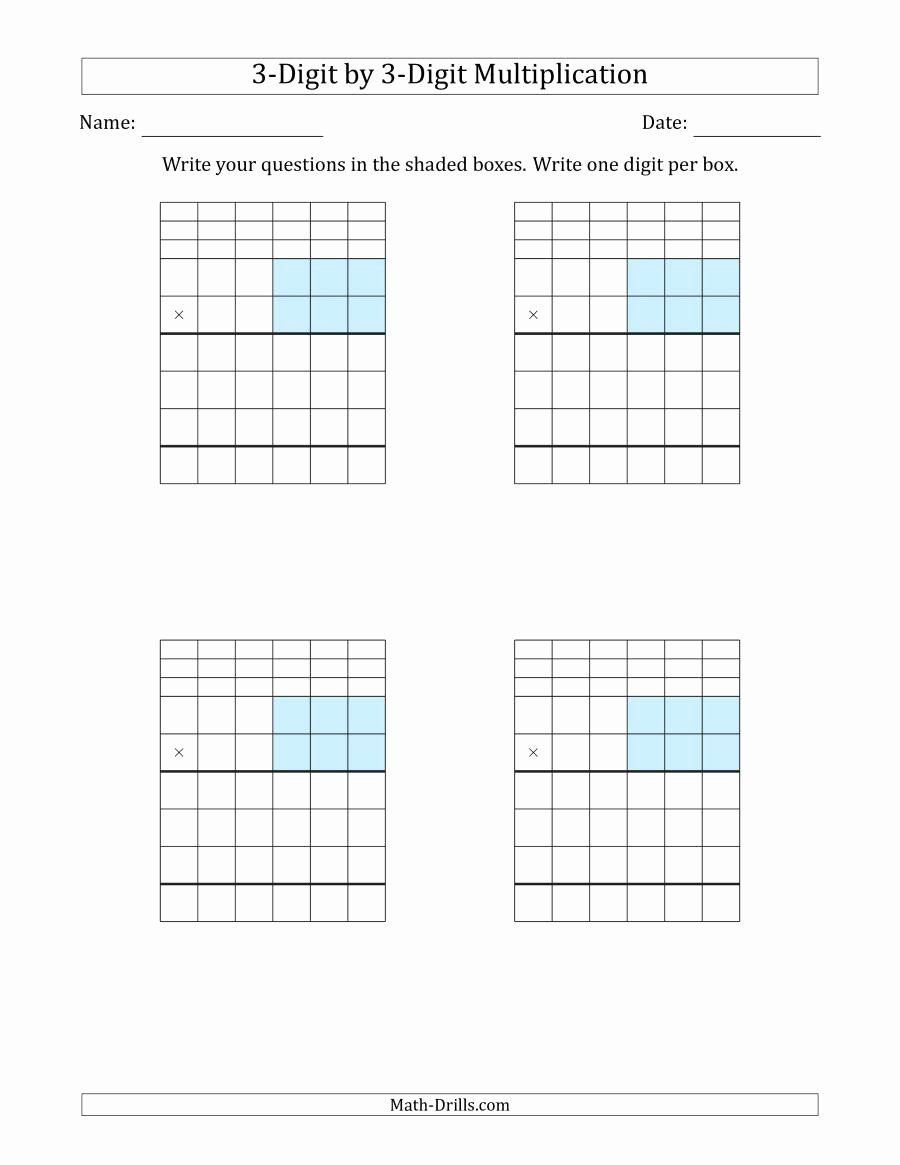 multiplication with grid blank 0303 001