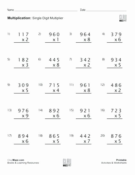 3 Digits by 2 Digits Multiplication Worksheets top Three Digit Multiplication Worksheets Decimal Multiplication