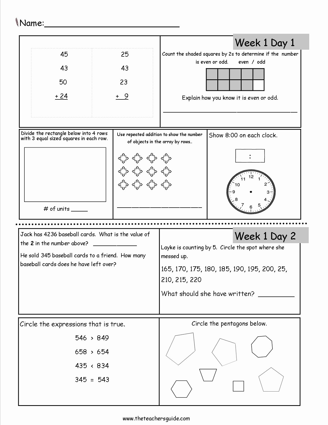 3rd Grade Multiplication Worksheets Grade 3 New Free 3rd Grade Daily Math Worksheets Dailymath3rd Printable