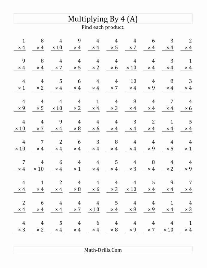4 Multiplication Worksheets Best Of the Multiplying to by Math Worksheet From Multiplication