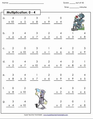 4s Multiplication Worksheets Fresh Multiplication by 4s Printables