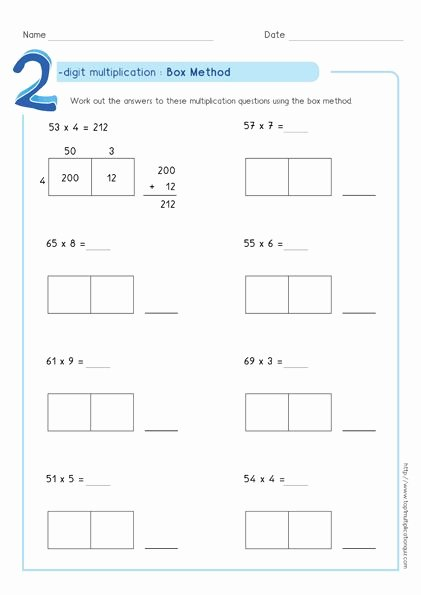 5th Grade area Model Multiplication Worksheets Fresh area Model Multiplication Worksheets Pdf In 2020