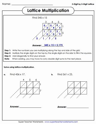 5th Grade area Model Multiplication Worksheets Lovely Multiplication Worksheets 3 Digits Times 2 Digits