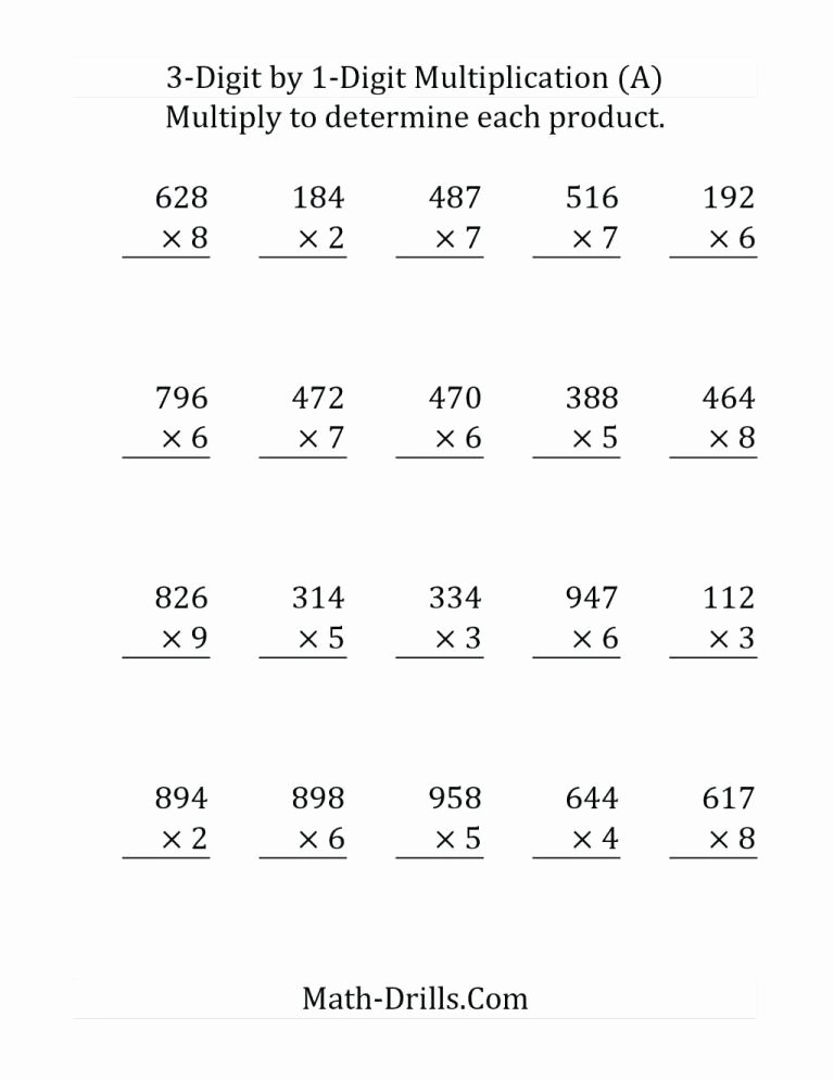 5th Grade area Model Multiplication Worksheets New Multi Digit Multiplication Worksheets