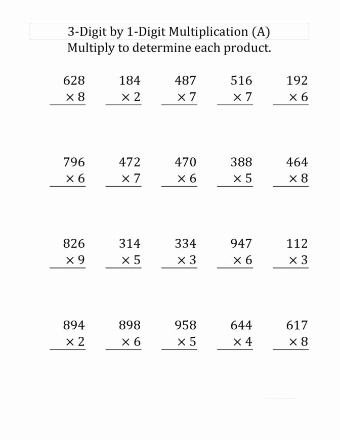 5th Grade Multiplication Worksheets Awesome Math Worksheet Phenomenal 3 Grade Multiplication