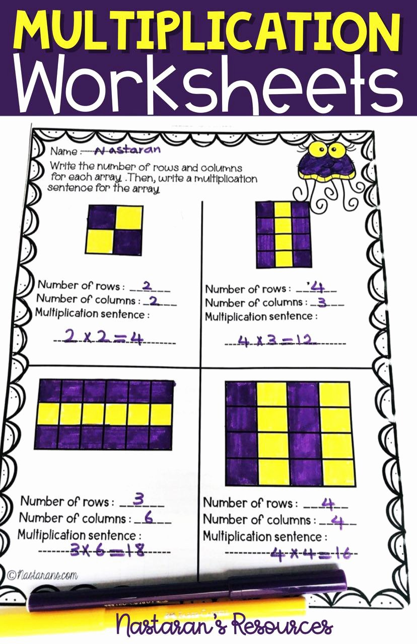 Array for Multiplication Worksheets top Multiplication Worksheets 3rd Grade Arrays Repeated Addition