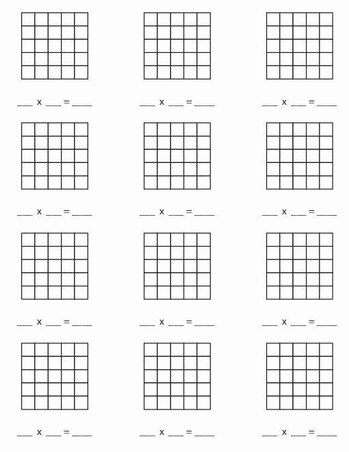 Array for Multiplication Worksheets Unique Teacherlingo $1 00 Multiplication Blank Arrays Up to