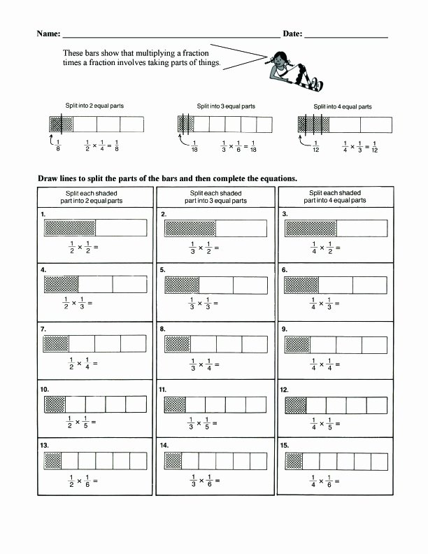Bar Model Multiplication Worksheets Fresh Fraction Bars Sample Worksheets Multiplication
