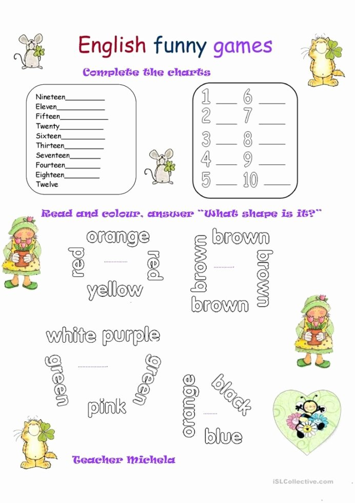 Basic Multiplication Worksheets Awesome English Funny Games Esl Worksheets for Distance Learning Fun