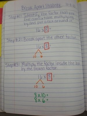 Break Apart Method Multiplication Worksheets top the Break Apart Method