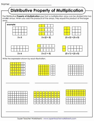 Break Apart Multiplication Worksheets 3rd Grade Fresh Properties Of Multiplication Printable Worksheets