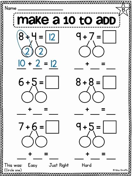Break Apart Multiplication Worksheets 3rd Grade top Break Apart Numbers to Make A Ten to Make Adding Easier