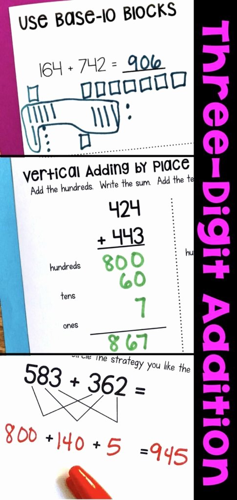 Break Apart Strategy Multiplication Worksheets Best Of Three Digit Addition Math Worksheets Using Strategies Break