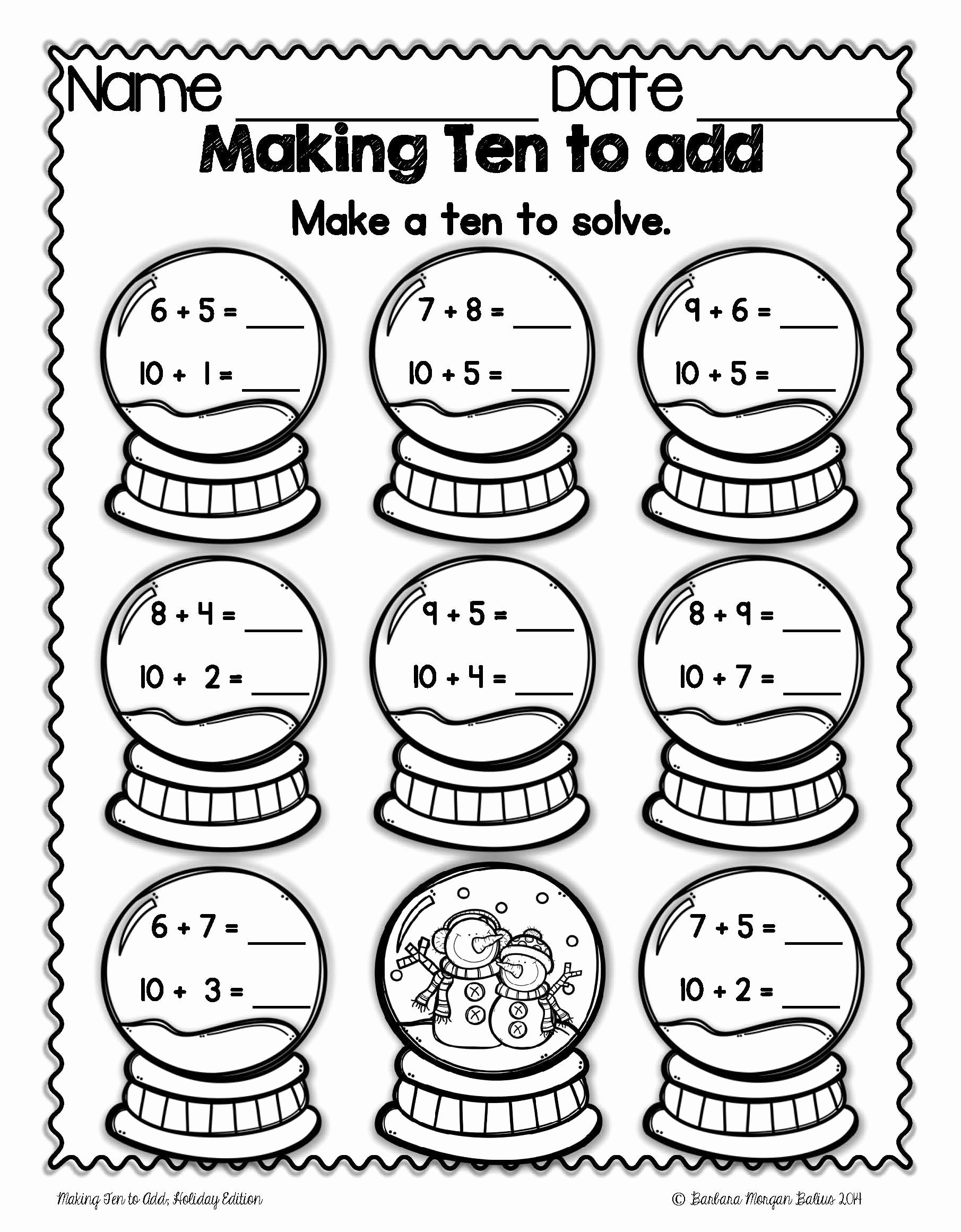 "Break Apart Strategy Multiplication Worksheets Inspirational Students ""make Ten"" by Breaking Apart A Smaller Number and"