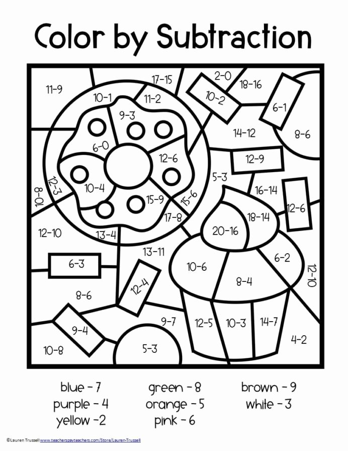 Color Multiplication Worksheets 3rd Grade New Basic Division Worksheets with Subtraction Coloring