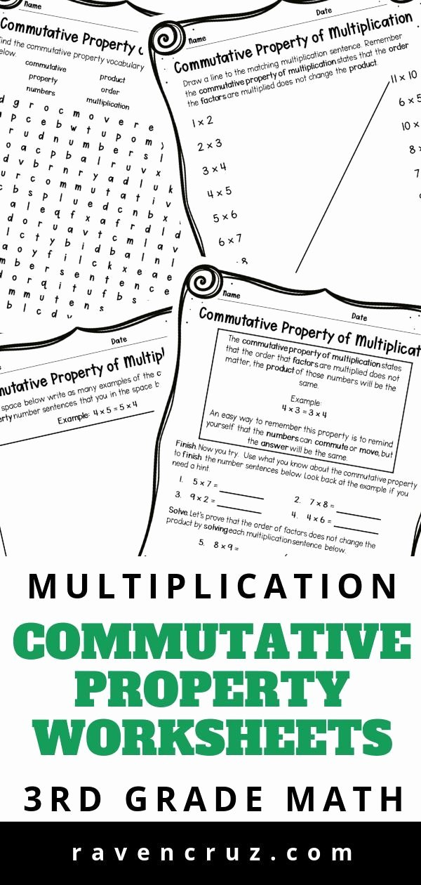 Commutative Property Of Multiplication Worksheets 3rd Grade Fresh Mutative Property Of Multiplication 3rd Grade