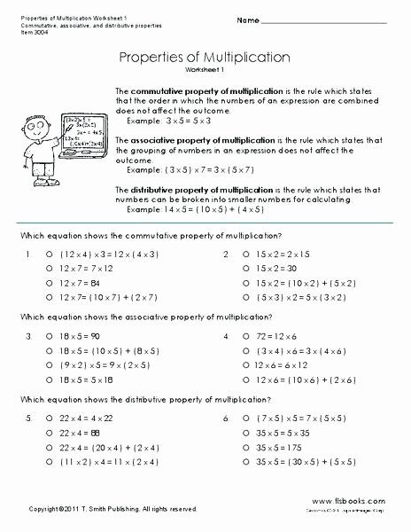 properties of multiplication worksheet for grade mutative worksheets property 4th