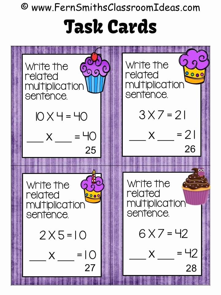 Commutative Property Of Multiplication Worksheets Inspirational Free Four Task Cards to Try before You Off for