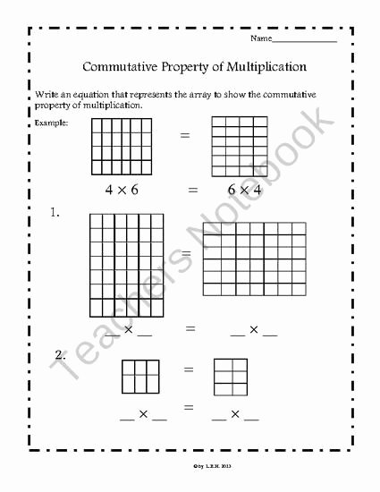 Commutative Property Of Multiplication Worksheets Lovely Mutative Property Of Multiplication Worksheets Mon