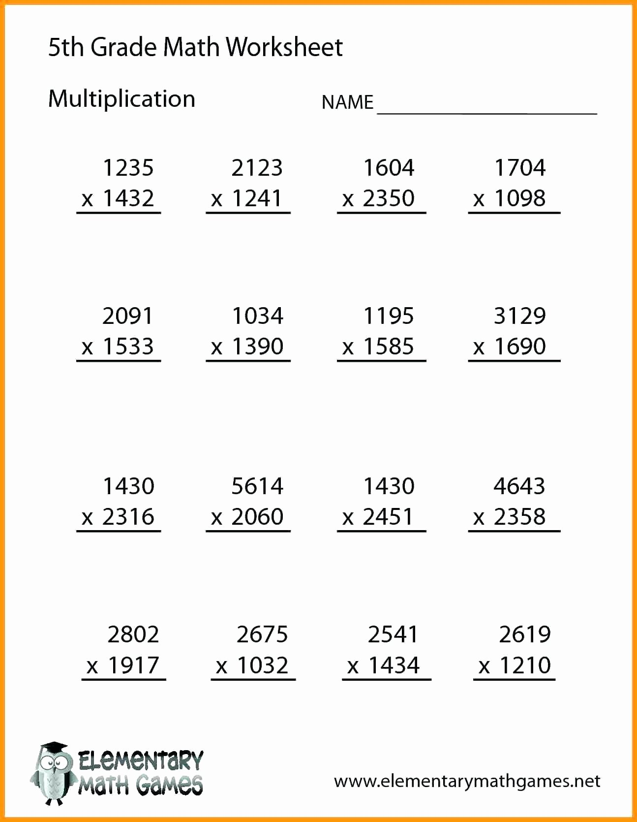 Decimal Multiplication Worksheets 5th Grade Lovely 52 Marvelous 5th Grade Math Worksheets Multiplication