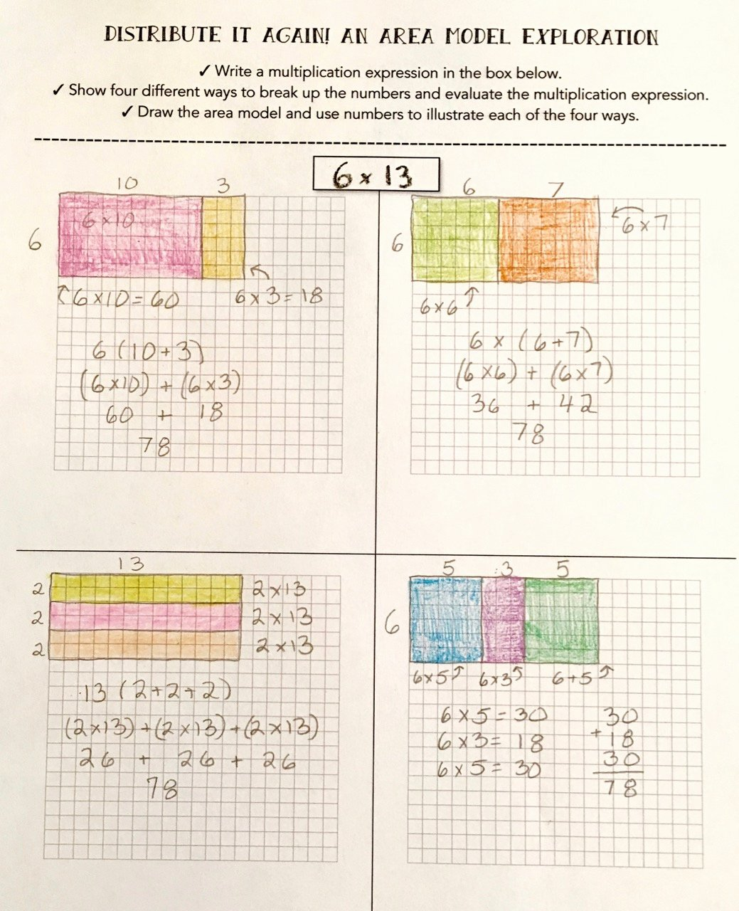 Distributive Property Of Multiplication Worksheets 3rd Grade top Teaching Multiplication with the Distributive Property