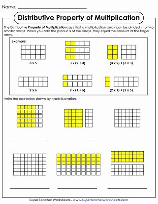 Distributive Property Of Multiplication Worksheets Best Of Properties Of Multiplication Worksheets