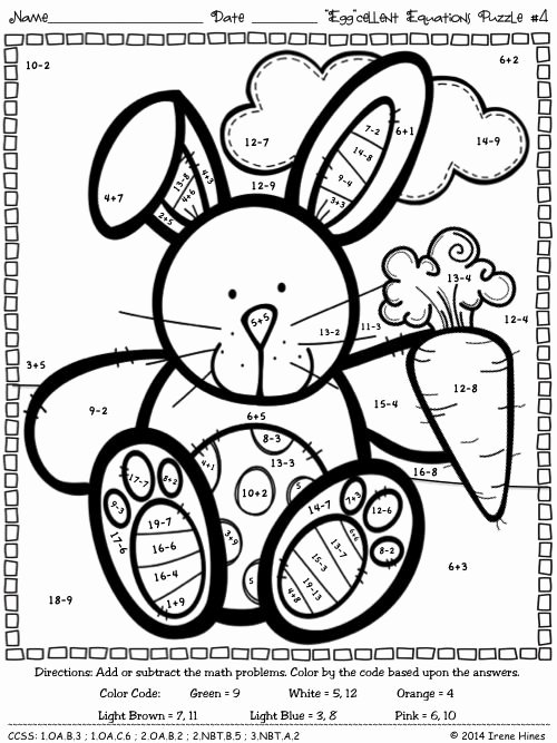 Easter Multiplication Worksheets Inspirational Pin by Irene Hines On Color by the Code Math & Language