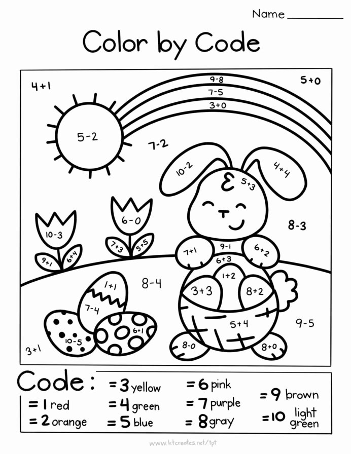 Easter Multiplication Worksheets New Coloring by Math Free Printable Rocket Worksheets Easter