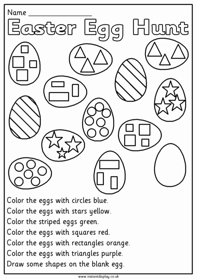 Easter Multiplication Worksheets New Easter Mathematics Worksheets for 1st Grade First Eggmaths