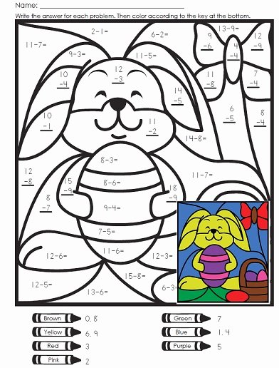 Easter Multiplication Worksheets top Math Mystery for Easter Bunny Worksheets Subtraction
