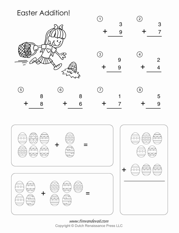 Easter Multiplication Worksheets top Printable Easter Math Worksheets Activities Middle School