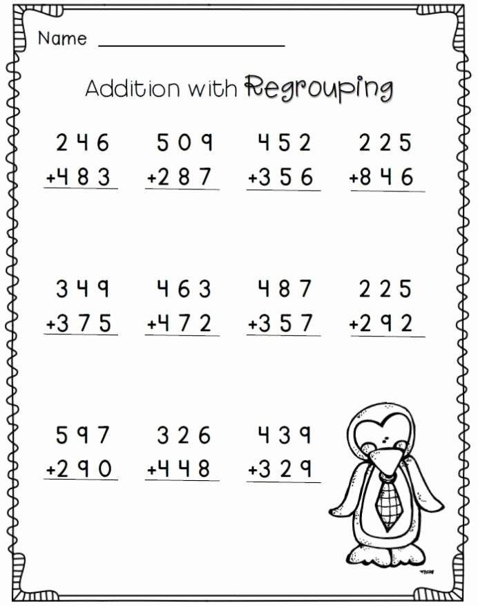 Easy Multiplication Worksheets Inspirational Penguin Math Freebie 2nd Grade Worksheets 3rd Free for and