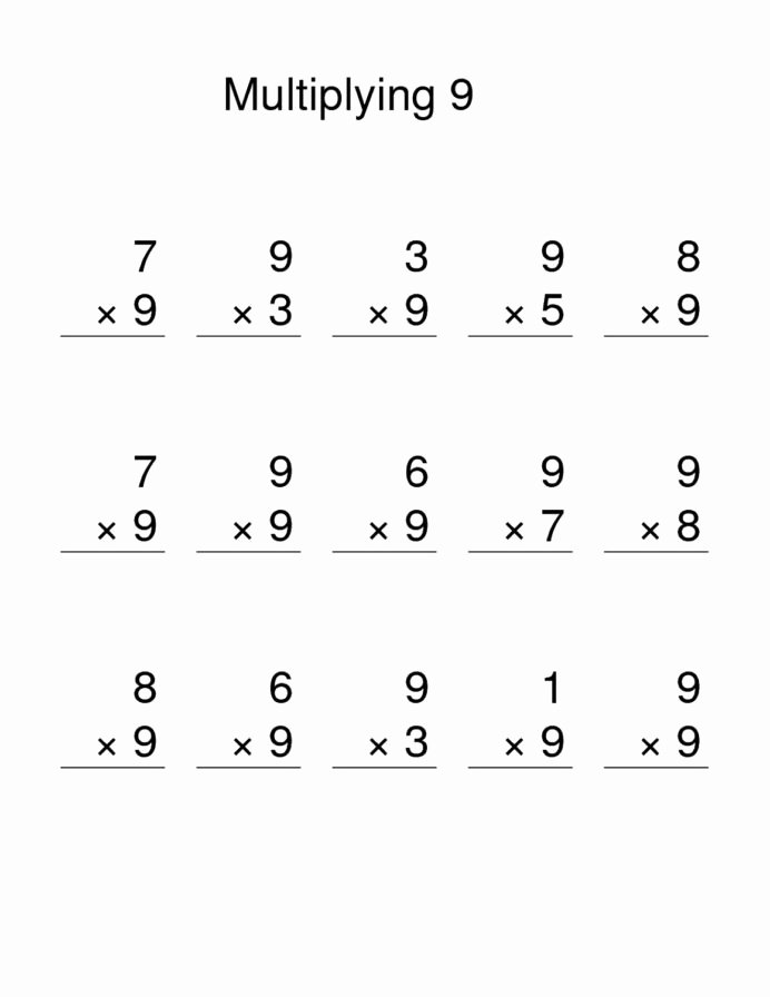 Easy Multiplication Worksheets top Multiply by Worksheets Activity Shelter Multiplication