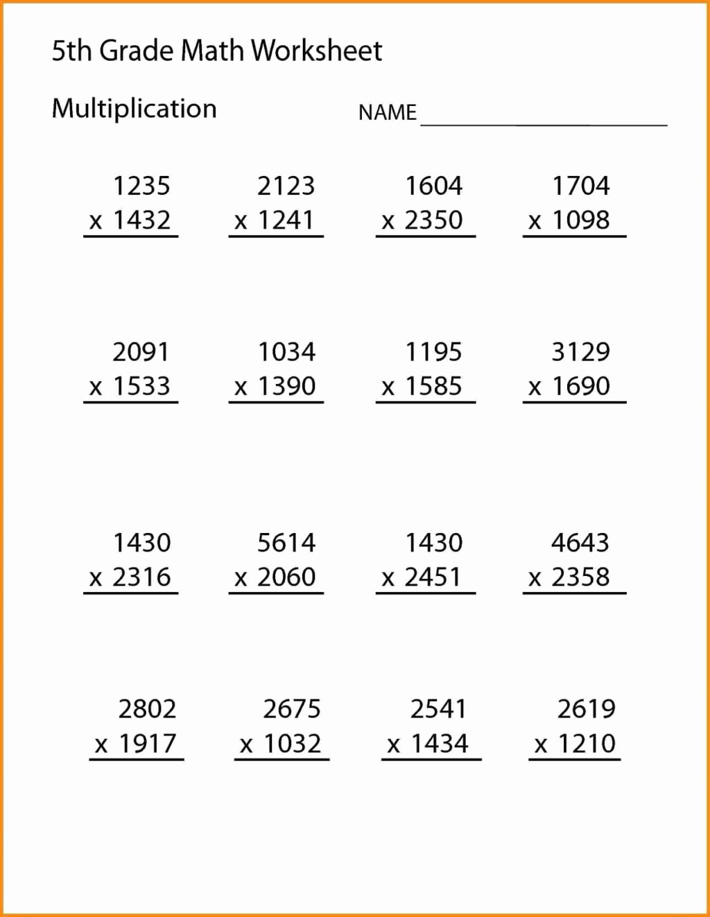 fifth grade math worksheets multiplication worksheettable shelter reading online free games 1024x1323