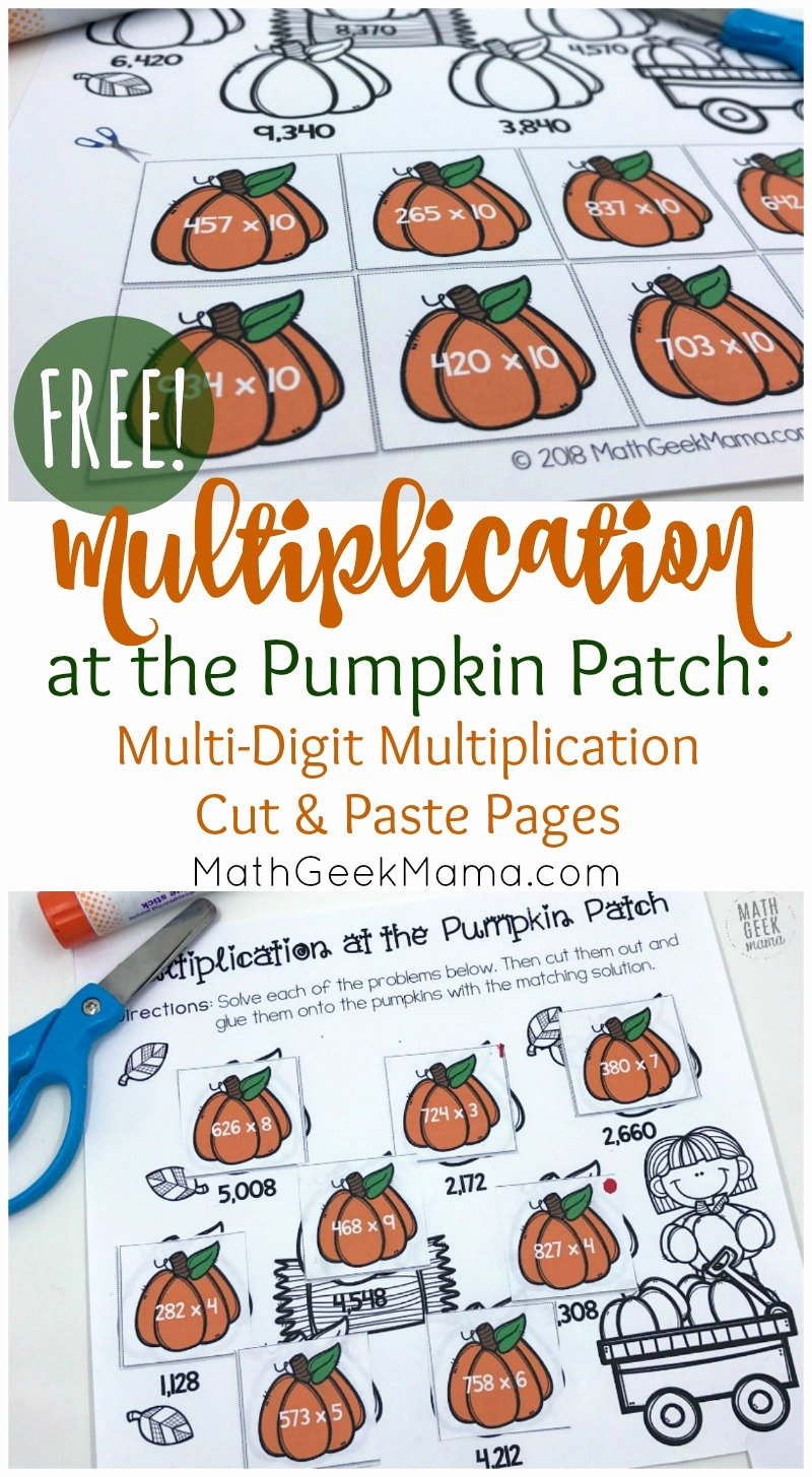Free 2 Digit Multiplication Worksheets New Free Multi Digit Multiplication Worksheets for Fall