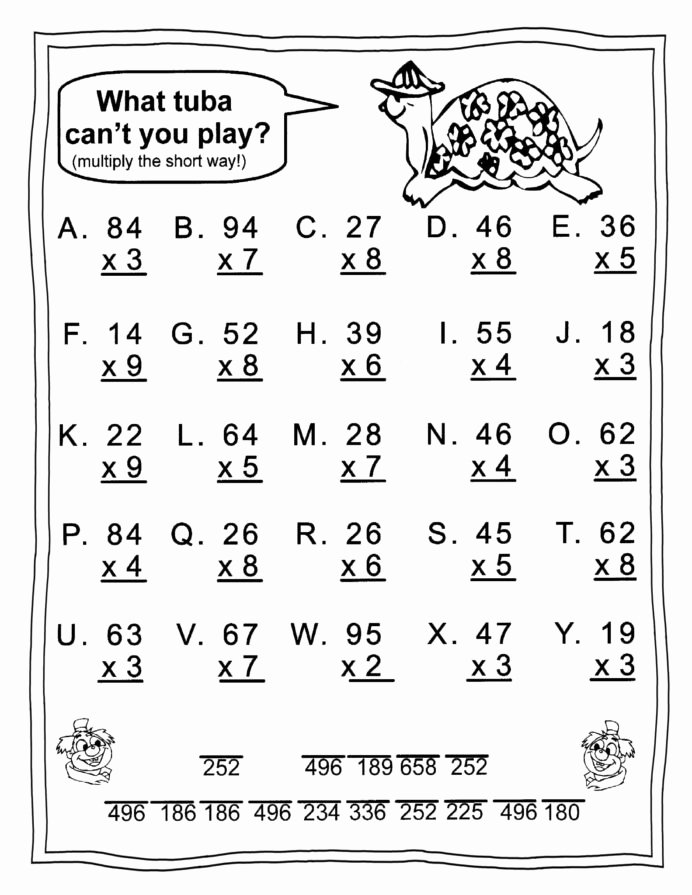 Free 4th Grade Multiplication Worksheets Awesome Free Printable Math Worksheets for 3rd Grade 3nd Grade Math