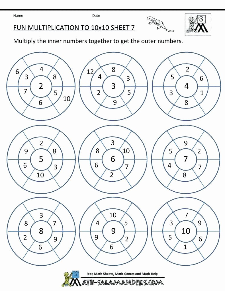 Free Multiplication Worksheets for Grade 3 Fresh Multiplication Worksheets Grade 3 Pdf