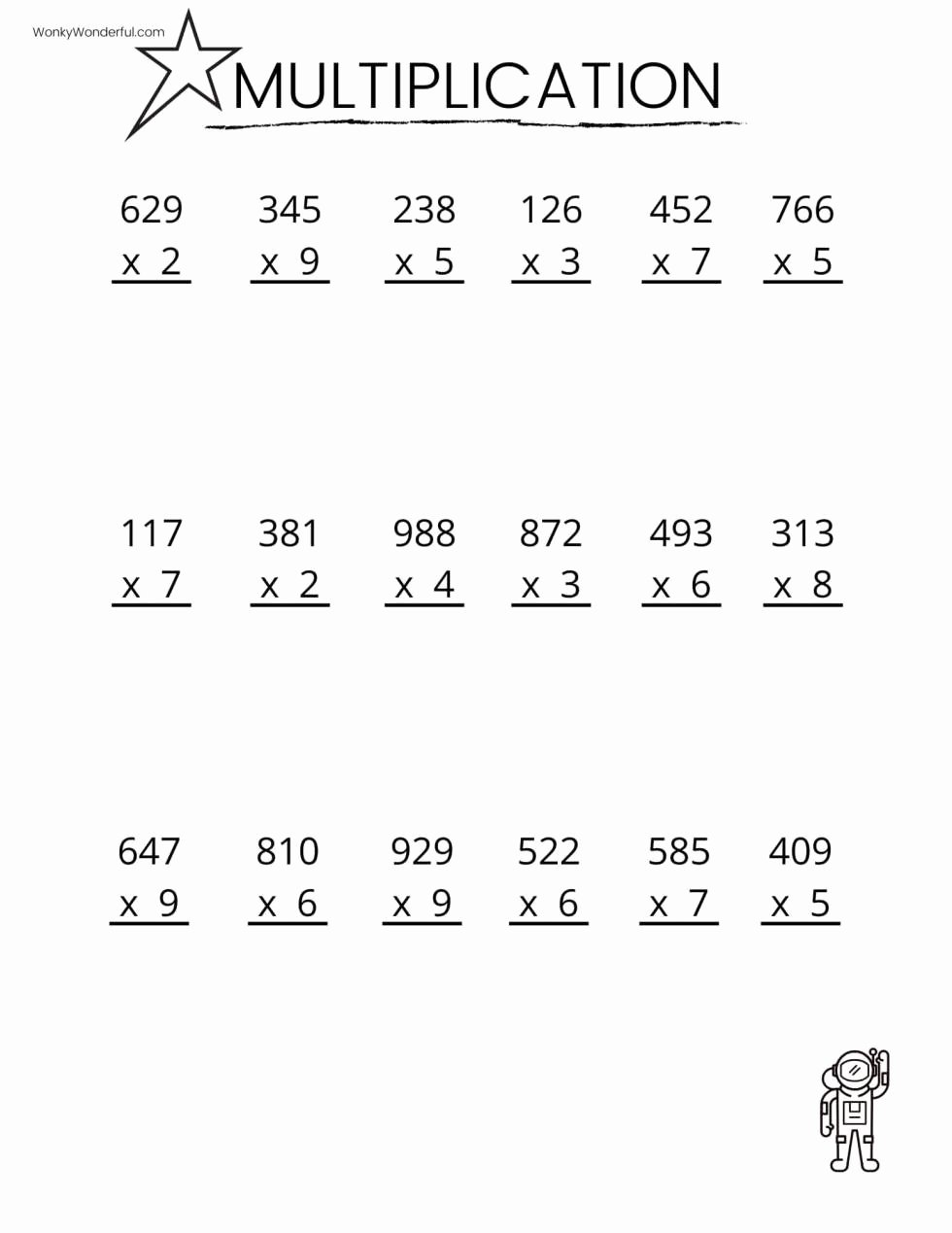 Free Multiplication Worksheets Lovely Free Printable Multiplication Worksheets Wonkywonderful