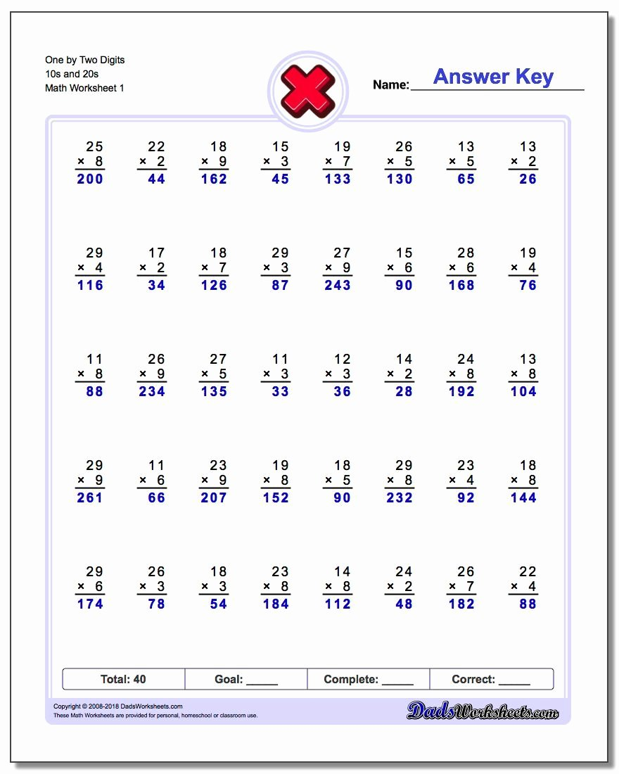 Free Multiplication Worksheets New Multiple Digit Multiplication Worksheet Multiple Digit