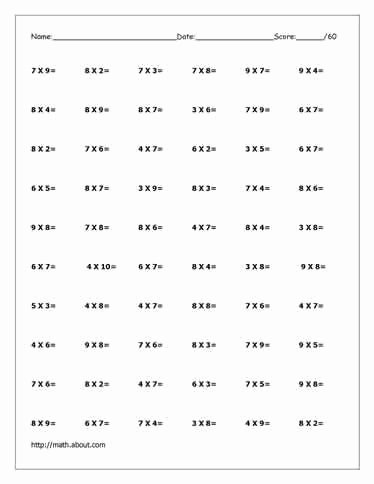 Free Multiplication Worksheets Printable Lovely Free Multiplication Worksheets to Practice with Factors Up