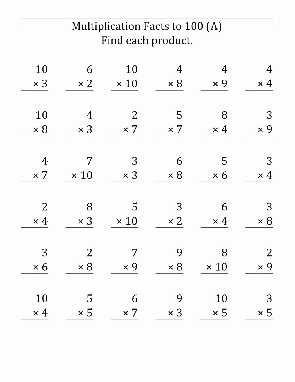 Free Printable Multiplication Worksheets for Grade 3 Inspirational Worksheet Fantastic Free Printable 3rd Grade Math