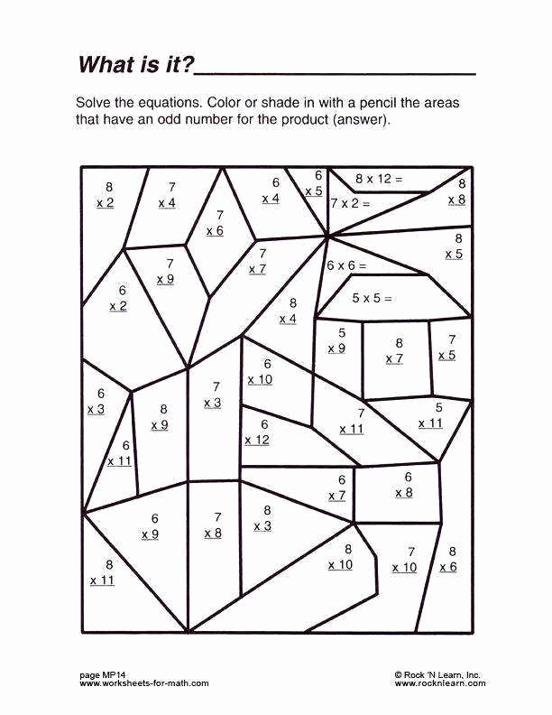 Fun Math Multiplication Worksheets top Multiplication Coloring Printable Middle School Math