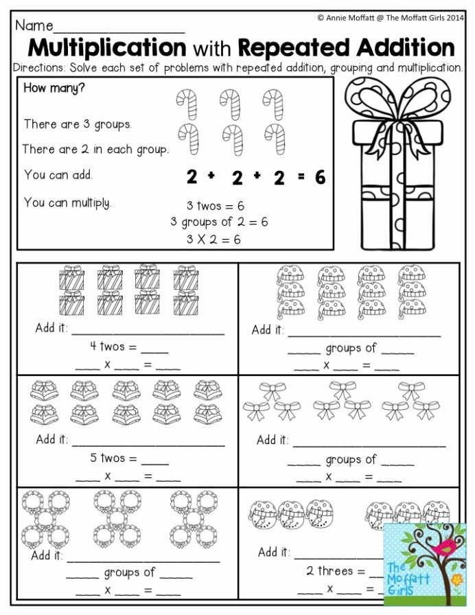 Grouping Multiplication Worksheets Fresh December Fun Filled Learning with No Prep Repeated Addition