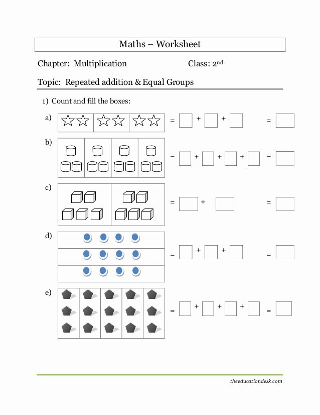Grouping Multiplication Worksheets top Maths Multiplication Worksheet Cbse Grade Ii Second Standard