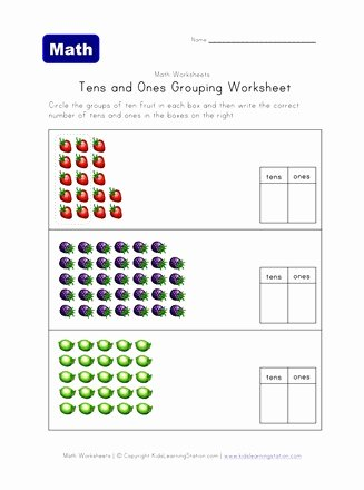 Grouping Multiplication Worksheets top Tens and Es Grouping Worksheet E Of Two