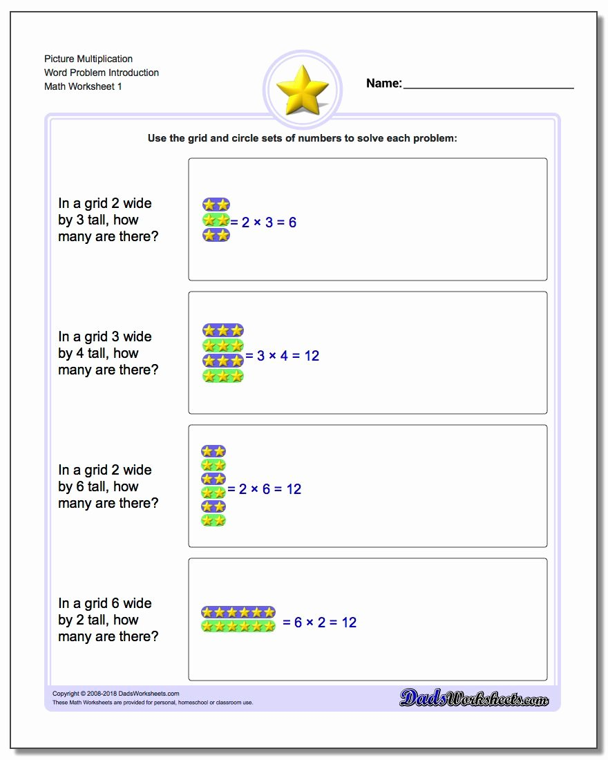 Introducing Multiplication Worksheets Inspirational Picture Math Multiplication